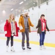 Happy friends on skating rink — Stock Photo #60138991
