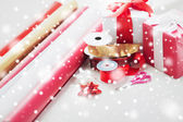 Close up of christmas presents — Stock Photo