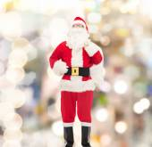 Man in costume of santa claus with bag — Стоковое фото