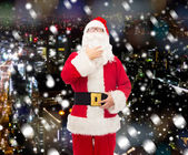 Man in costume of santa claus — Stockfoto