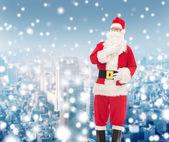 Man in costume of santa claus — Stockfoto