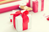 Close up of christmas presents — Foto Stock