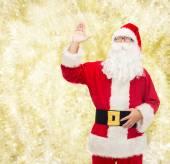 圣诞老人服装的人 — 图库照片