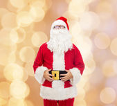 Man in costume of santa claus — Foto Stock