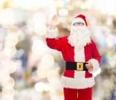 Mężczyzna w stroju Świętego Mikołaja — Zdjęcie stockowe