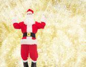 Man in costume of santa claus — Foto Stock