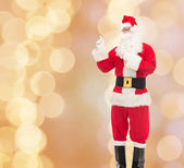 Man in costume of santa claus — Stock Photo
