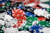 Close up of casino chips background — Stock Photo