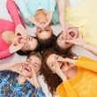 Group of smiling teenagers — Stock Photo #62857633