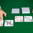 Holdem dealer with playing cards — Stockfoto #63006193