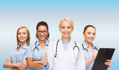 Team or group of female doctors and nurses — Foto de Stock