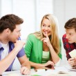 Group of students gossiping at school — Stock Photo #63706251