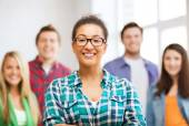 Group of students at school — Stock Photo