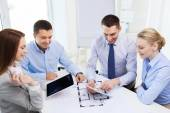 Smiling business people meeting in office — Stock Photo