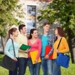 Skupina teenagerů, usmívající se — Stock fotografie #66075211