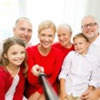 Family making selfie at home — Stock Photo #66812913