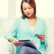 Woman with tablet pc  at home — Stock Photo #67172215