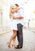 Paar in de stad — Stockfoto