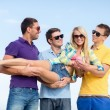 Group of friends having fun on beach — Stock Photo #68959773