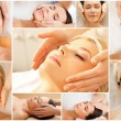 Women having facial treatment in spa salon — Stock Photo #69925963