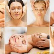 Women having facial treatment in spa salon — Stock Photo #70914911