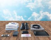 Close up of formal clothes and personal stuff — Stock Photo