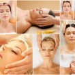 Women having facial treatment in spa salon — Stock Photo #71416863
