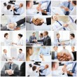 Collage with business handshake — Stock Photo #71416875
