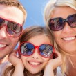 Happy family with blue sky — Stock Photo #71592069