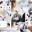 Collage with business handshake — Stock Photo #71959133