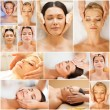Women having facial treatment in spa salon — Stock Photo #71959147