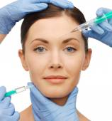 Dermall fillers injection — Stock Photo