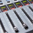 Control panel at recording studio or radio station — Stock Photo #72994641