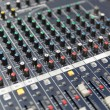 Control panel at recording studio or radio station — Stock Photo #72994653