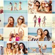 Girls having fun on the beach — Stock Photo #73168407