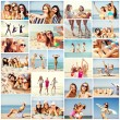 Girls having fun on the beach — Stock Photo #73376279
