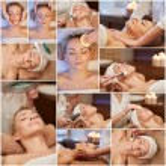 Woman having facial massage in spa salon — Stock Photo #73376303