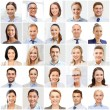 Collage with many business people portraits — Stock Photo #73376327