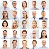 Collage with many business people portraits — Stock Photo