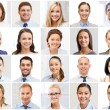 Collage with many business people portraits — Stock Photo #73567417