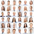Collage with many business people portraits — Stock Photo #73567419