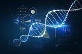 Dna molecule structure — Stock Photo