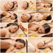 Woman having facial or body massage in spa salon — Stock Photo #74103929