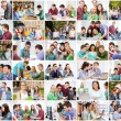 Collage with many pictures of college students — Stock Photo #74103985