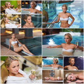 Beautiful young woman relaxing at luxury spa — Fotografia Stock