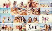 Dziewczyny zabawy na plaży — Zdjęcie stockowe