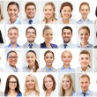 Collage with many business people portraits — Stock Photo #74314609