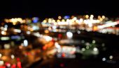 色彩明亮的灯光,黑夜背景 — 图库照片