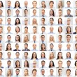Collage with many business people portraits — Stock Photo #74989231