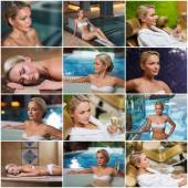 Beautiful young woman relaxing at luxury spa — 图库照片